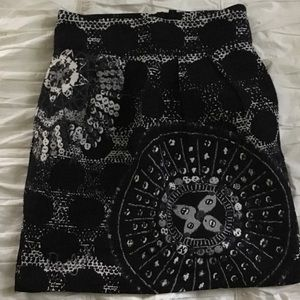 Desigual Black and White Skirt